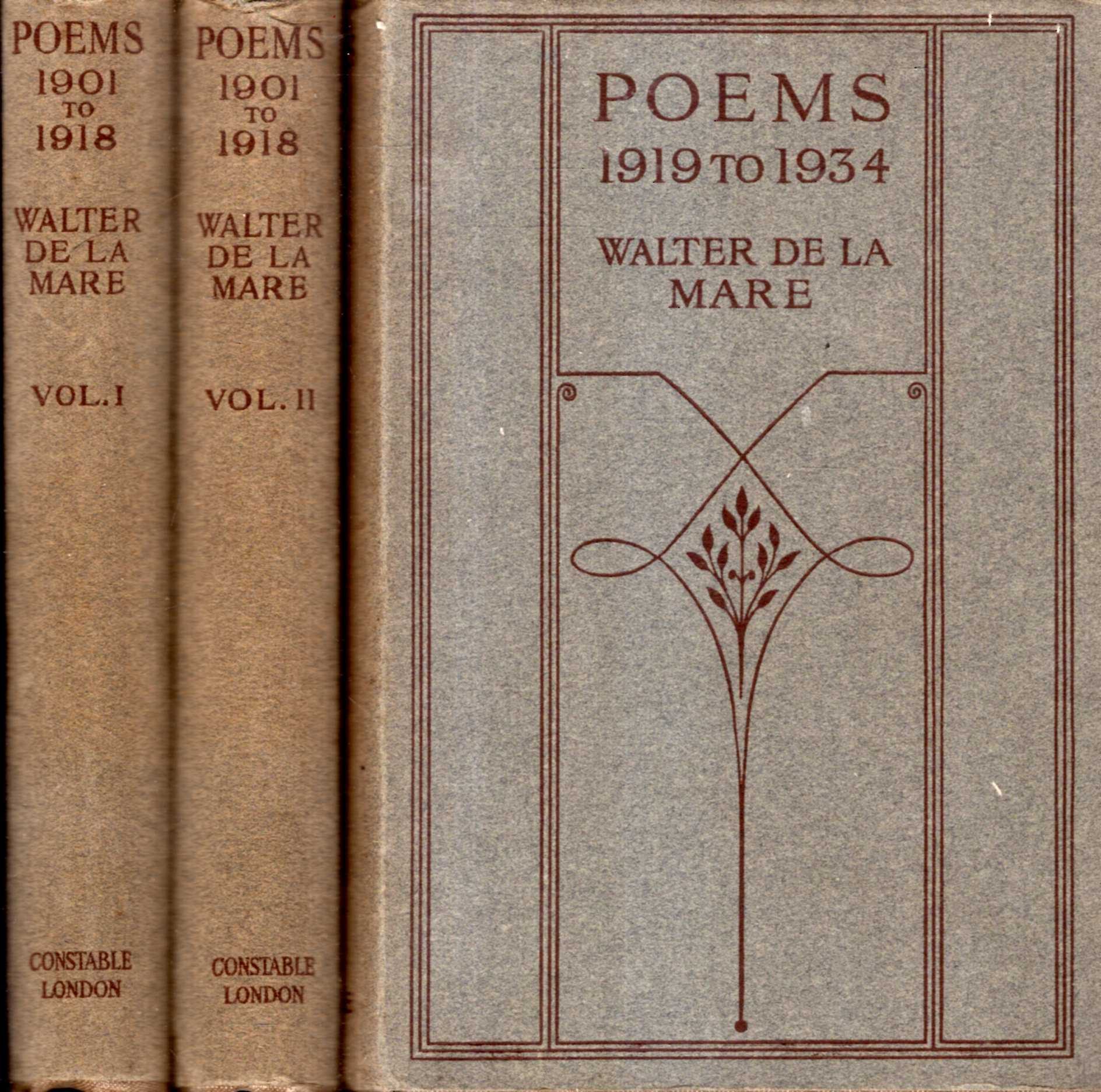 Image for Poems 1901 to 1934 (three volumes)