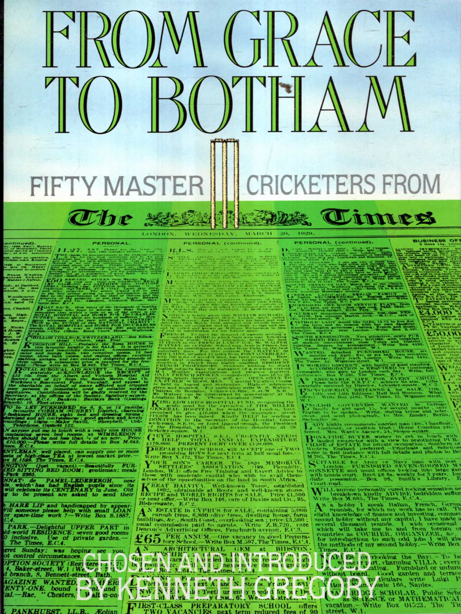 "Image for From Grace to Botham : Fifty Master Cricketers from ""The Times"""