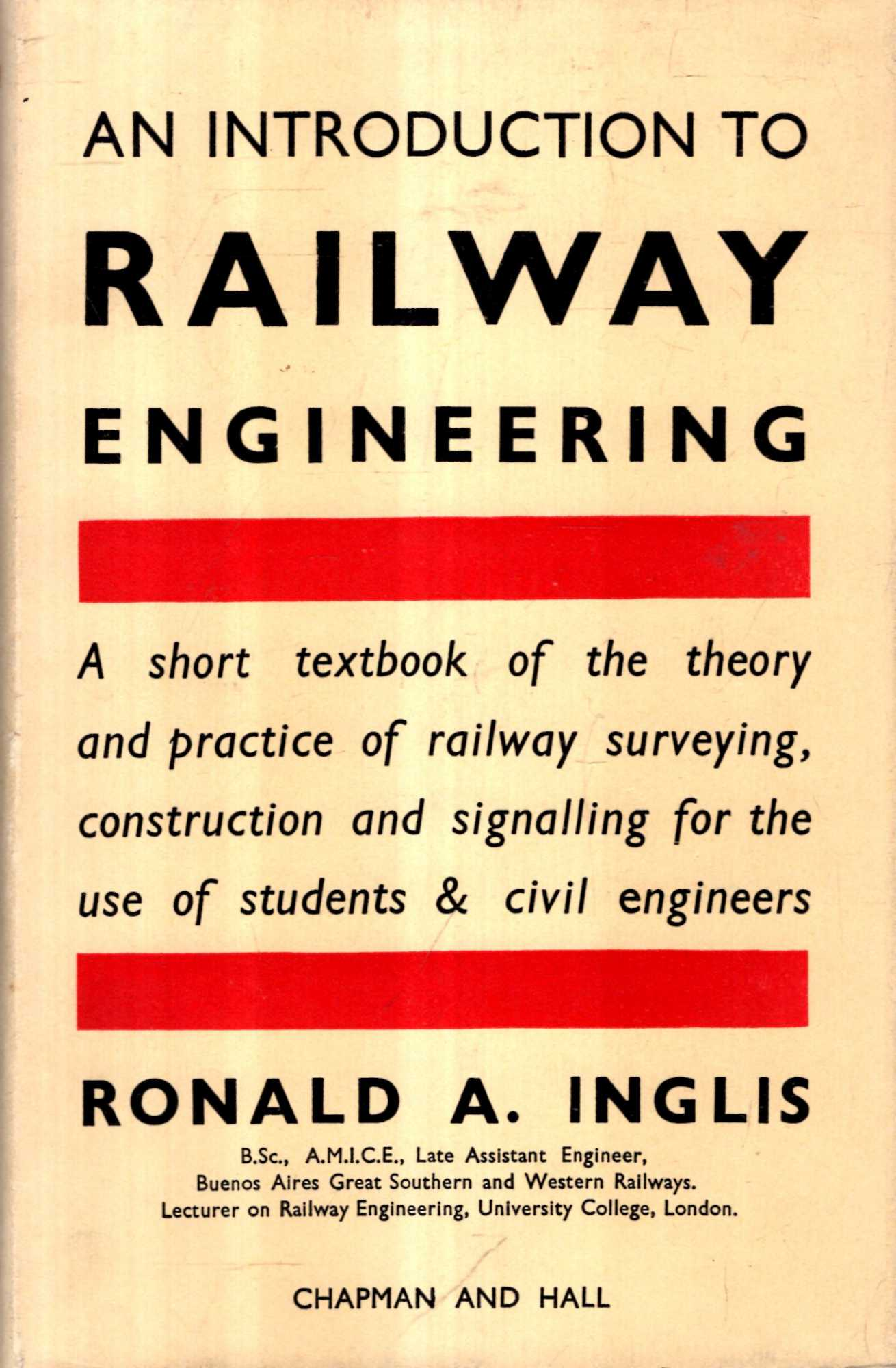 Image for An Introduction to Railway Engineering