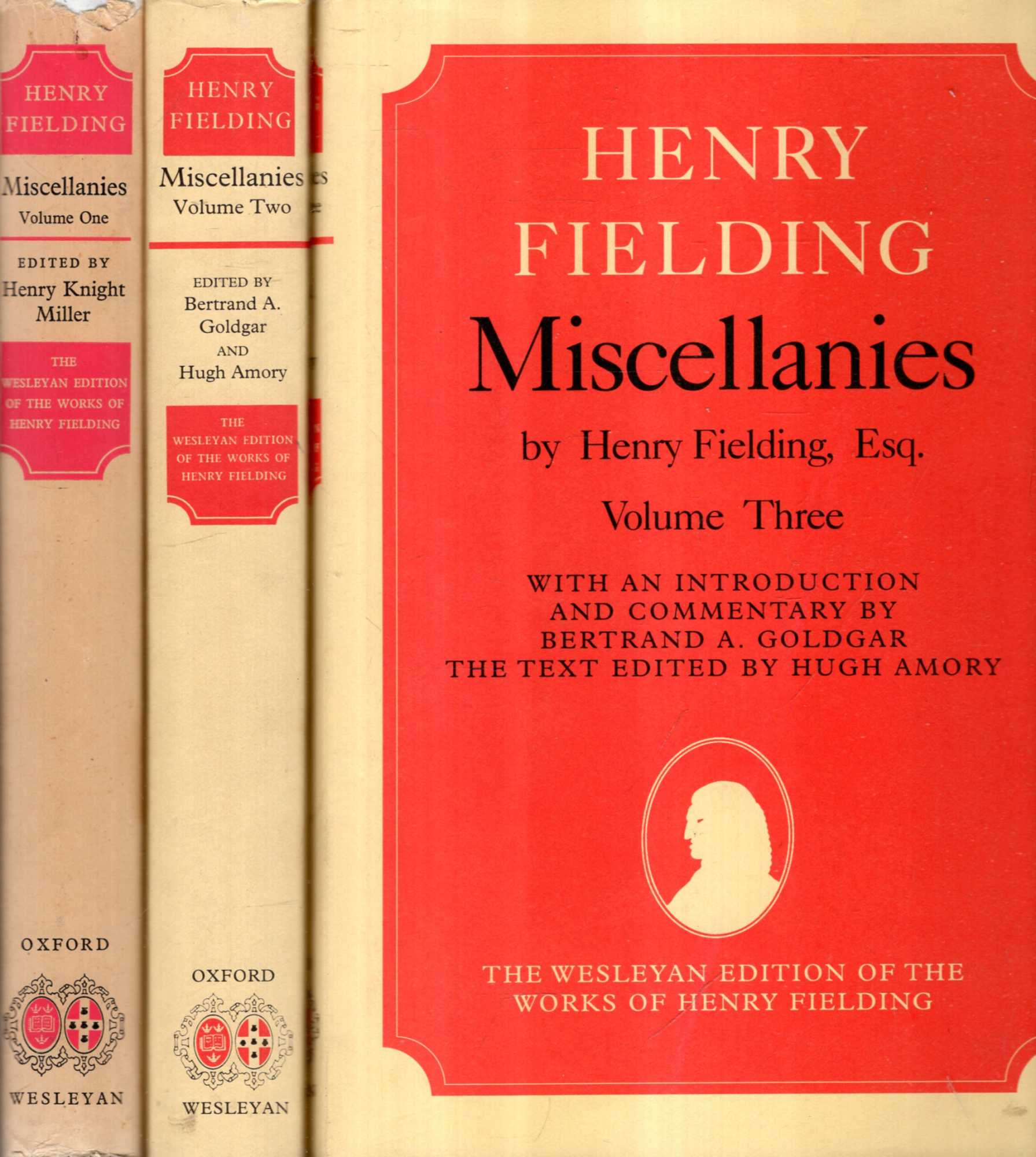 Image for Miscellanies by Henry Fielding, Esq (three volumes complete)