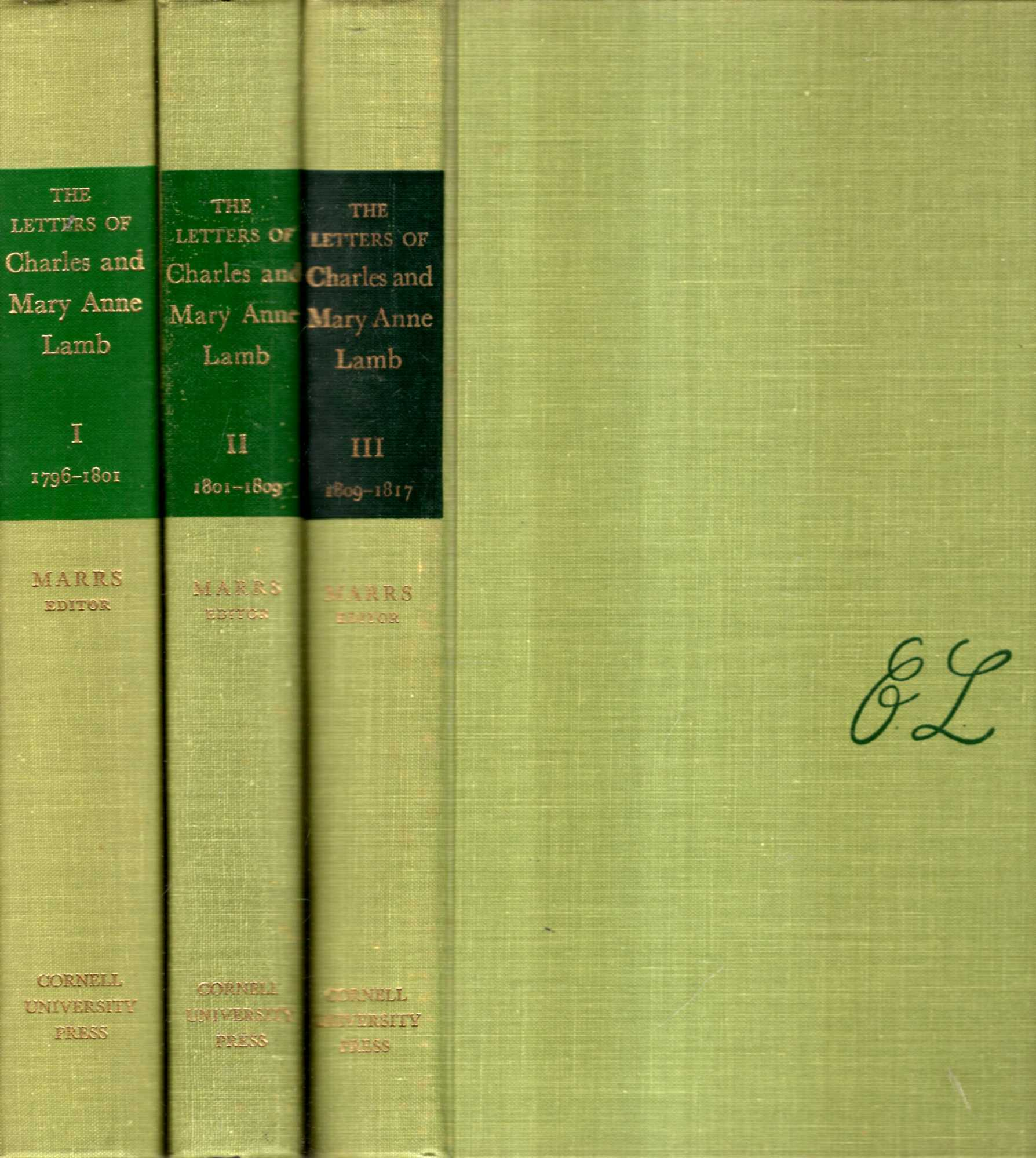 Image for The Letters of Charles and Mary Anne Lamb (three volumes complete)