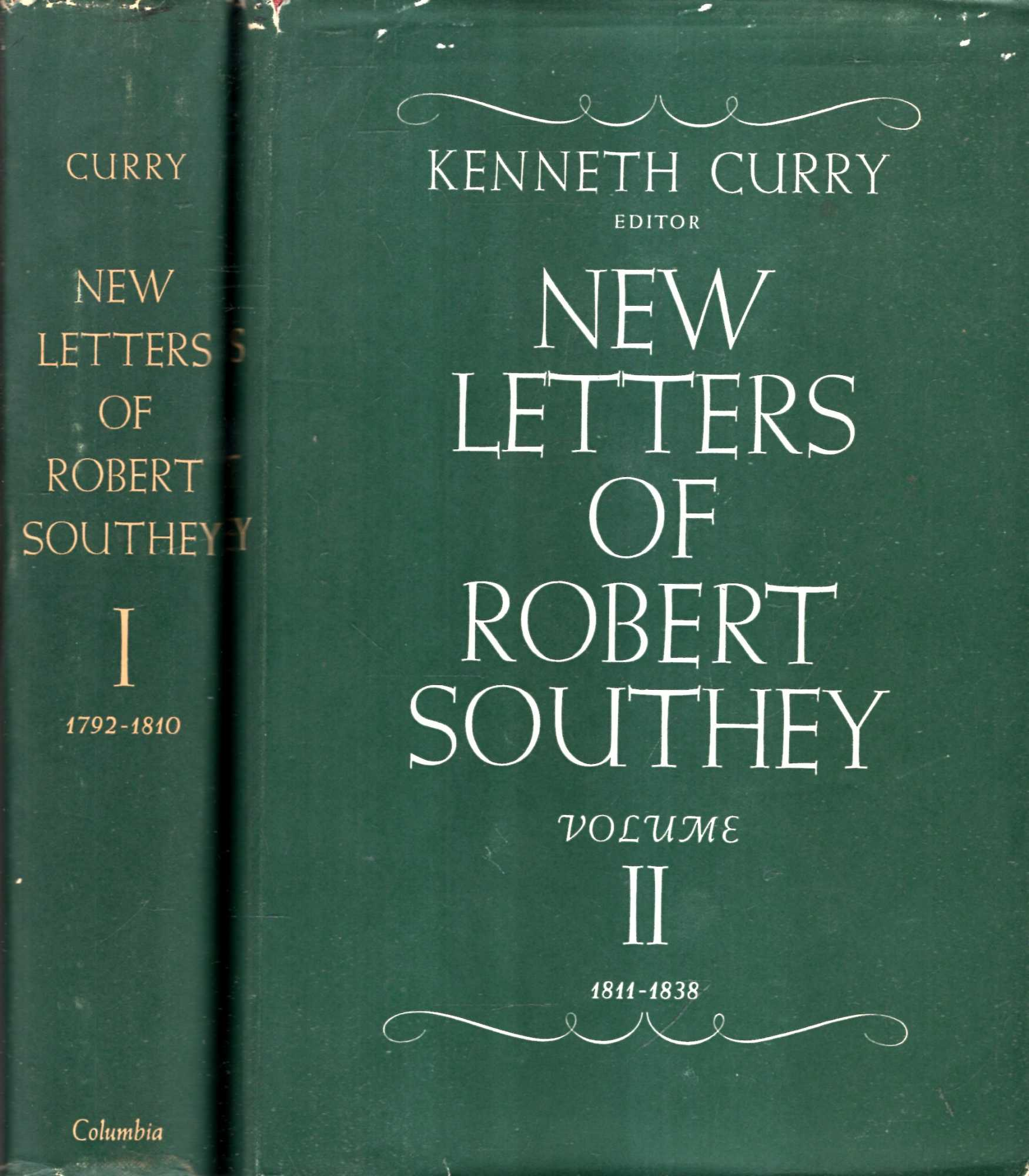 Image for New Letters of Robert Southey 1792-1838 (two volumes complete)