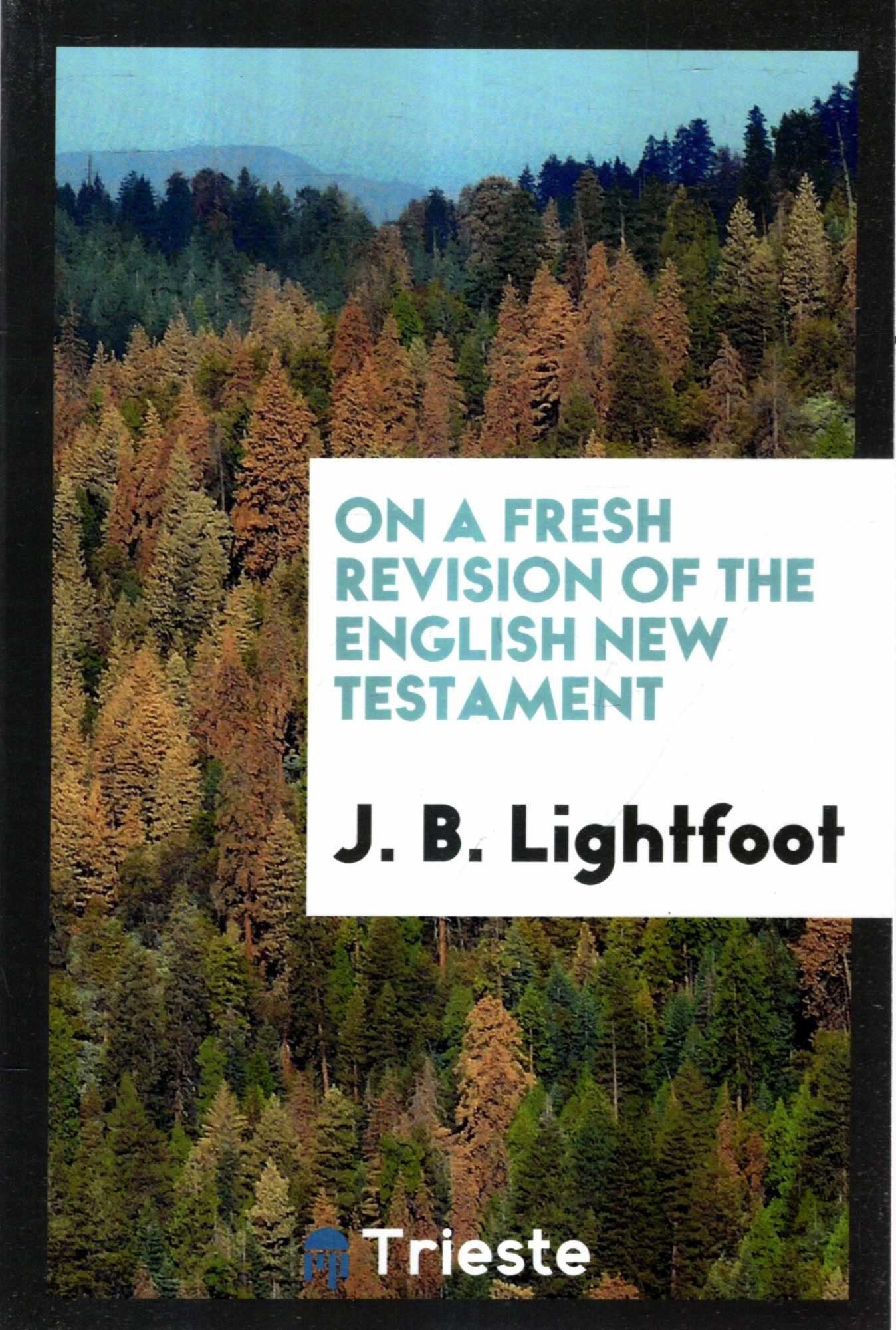 Image for On a Fresh Revision of the English New Testament