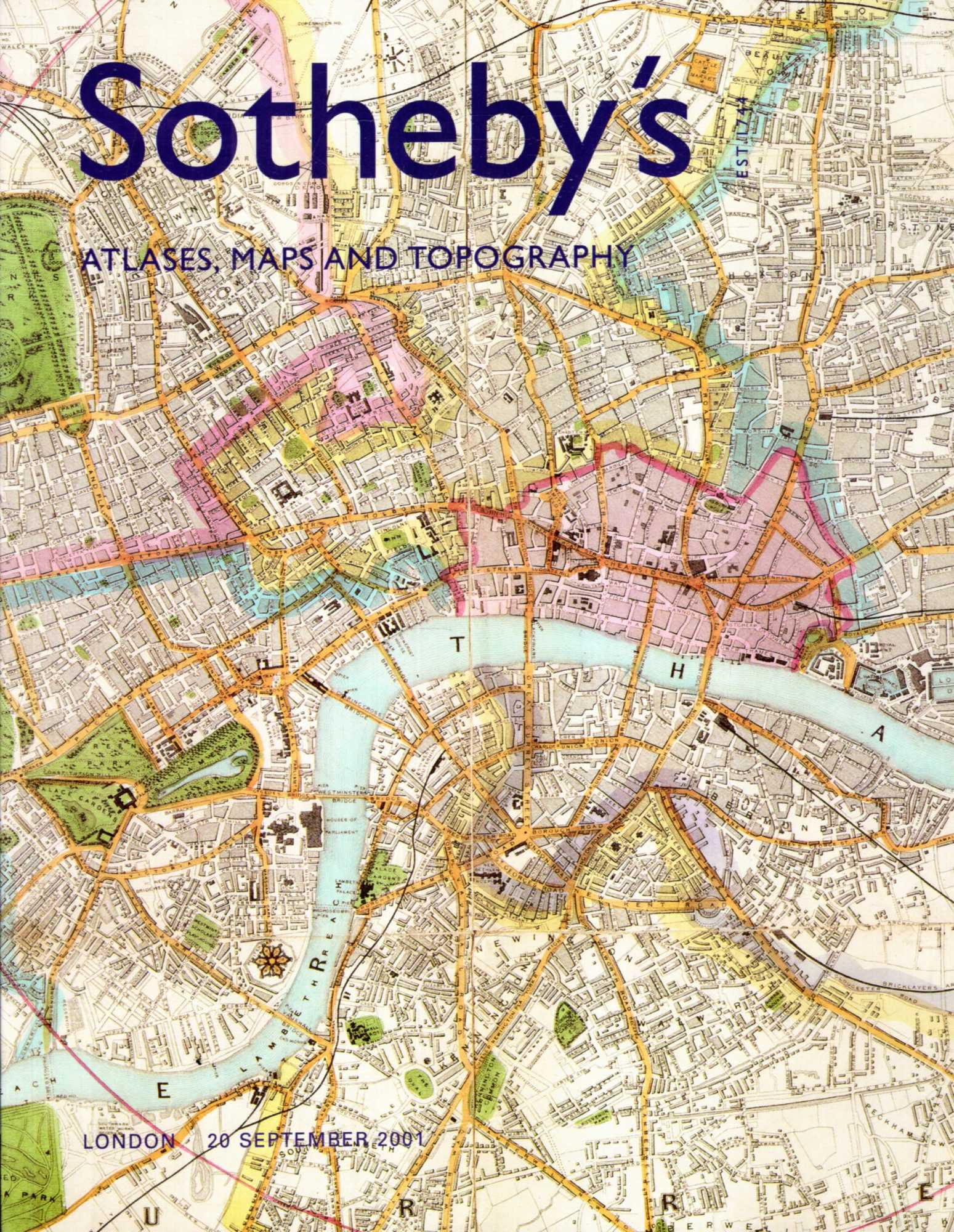Image for Atlases maps and Topgraphy, 20 September 2001, Sale LO1326