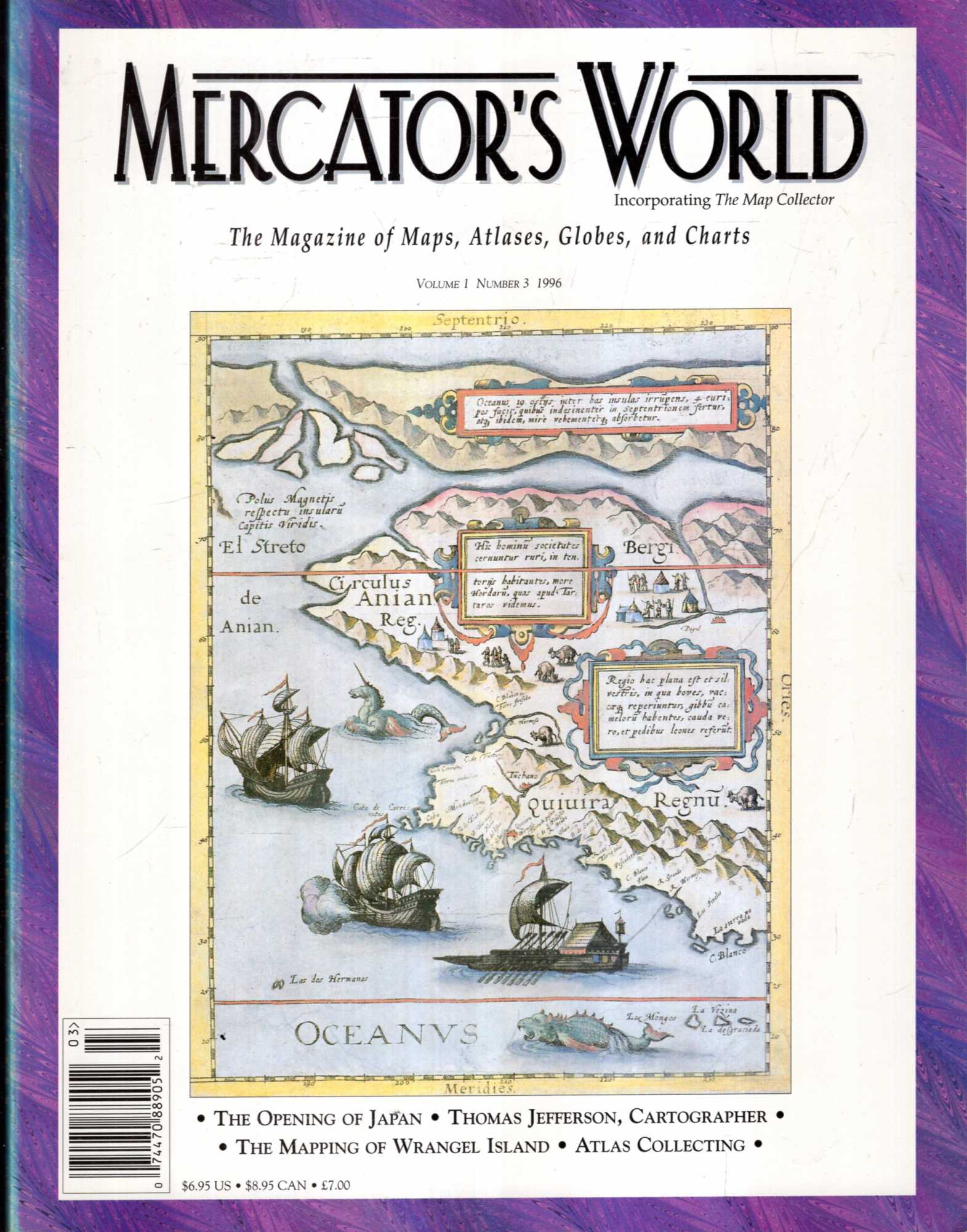Image for Mercator's World : The magazine of maps, atlases, globes and charts, volume I, Number 3 1996