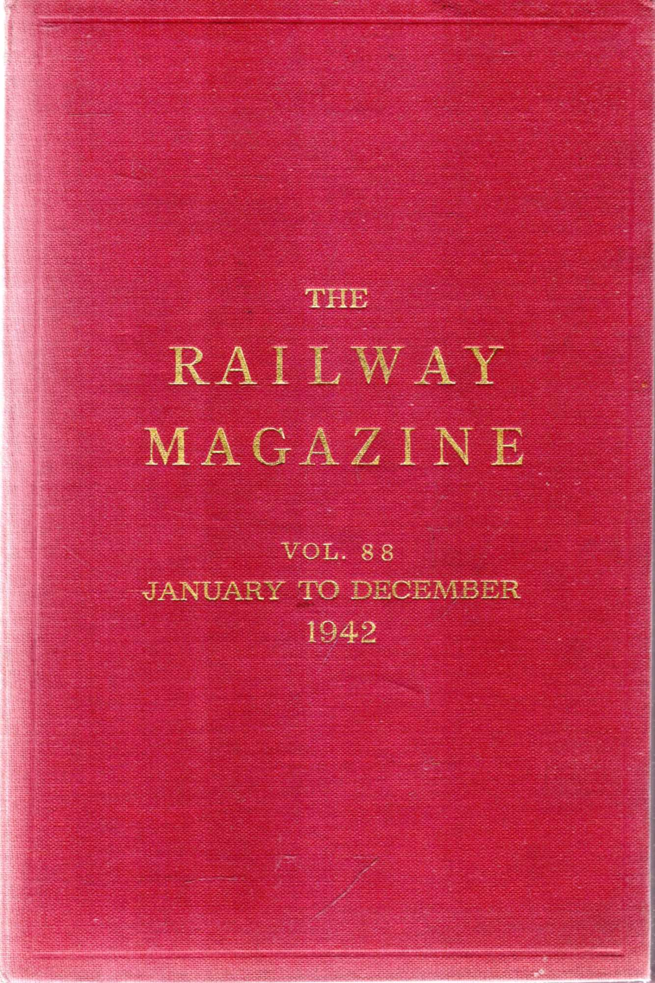 Image for The Railway Magazine volume 88 January - December 1942