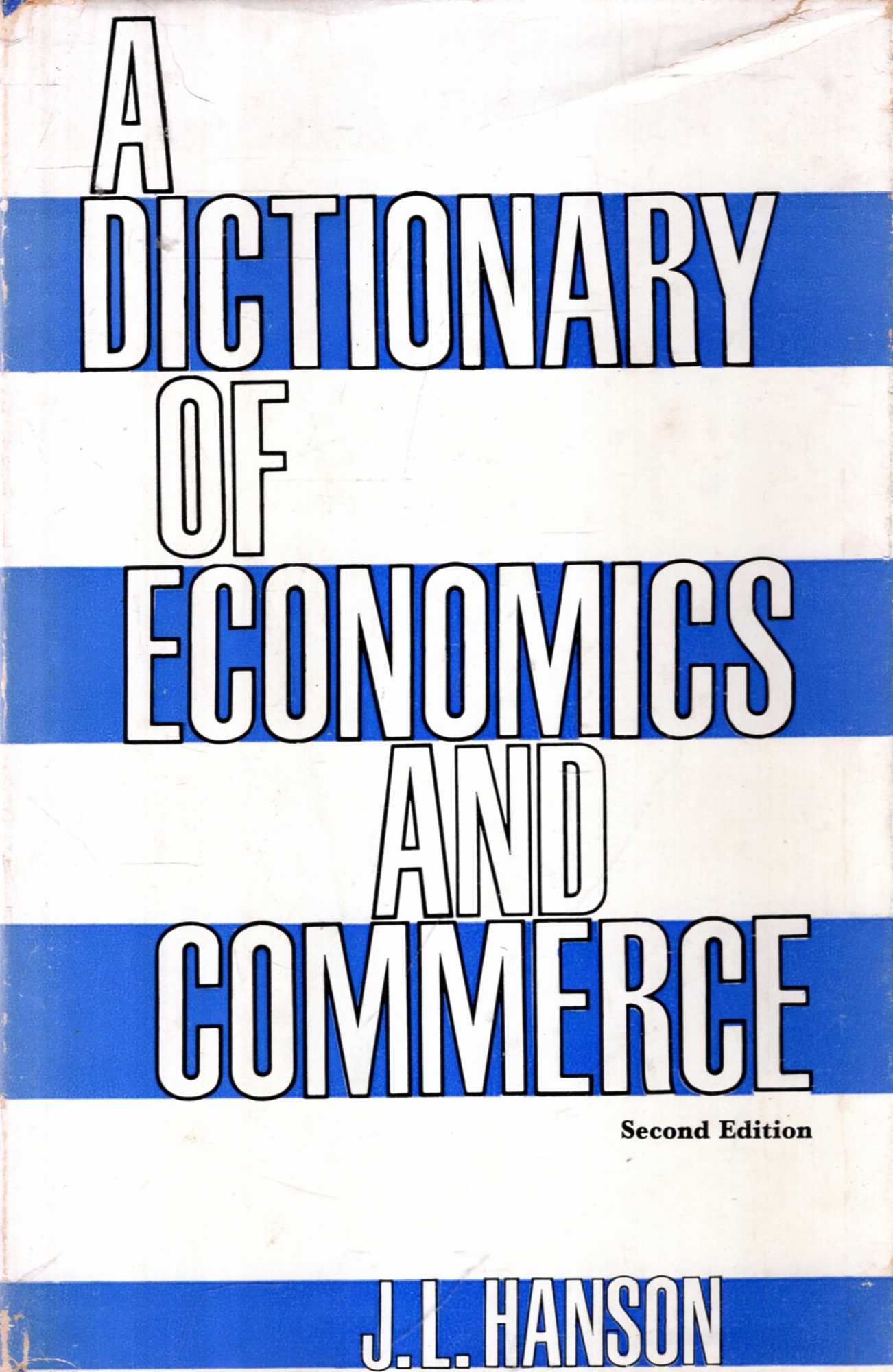 Image for A Dictionary of Economics and Commerce