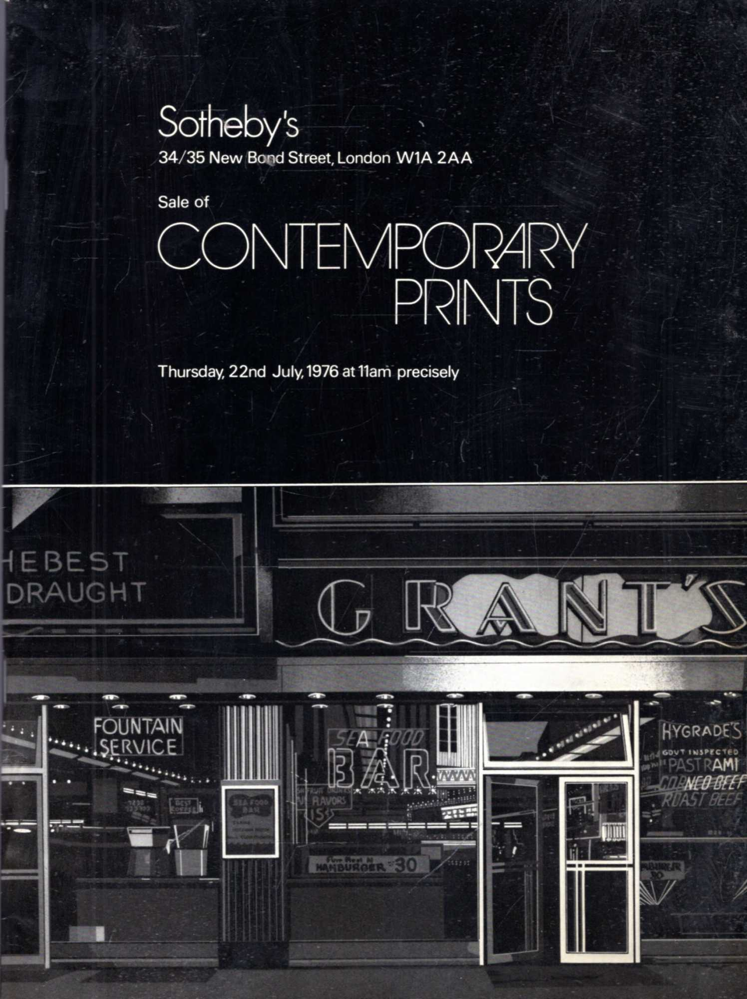 Image for Sale of Contemporary Prints, 22 July, 1976