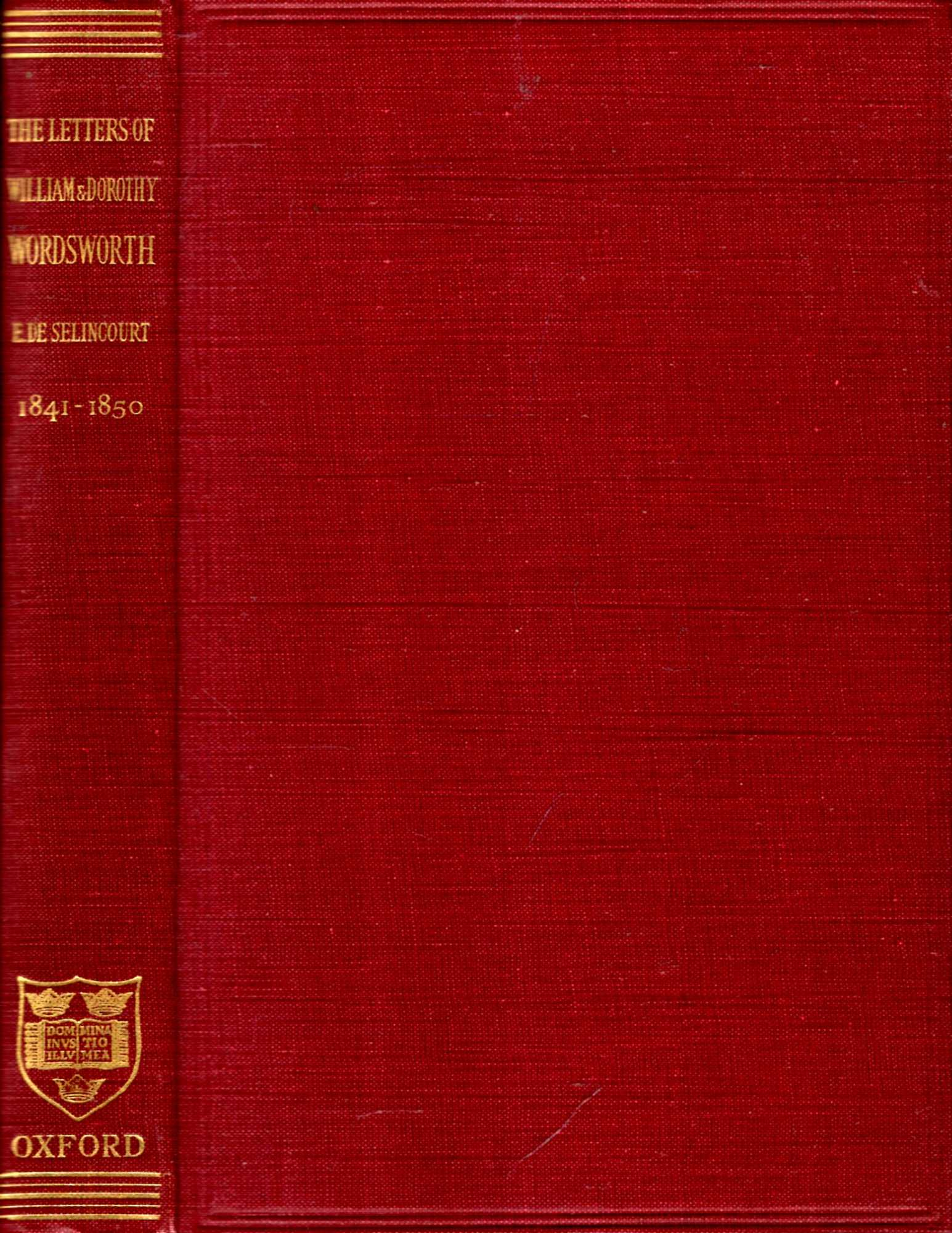 Image for The Letters of William and Dorothy Wordsworth : The Later Years, volume III 1841-50