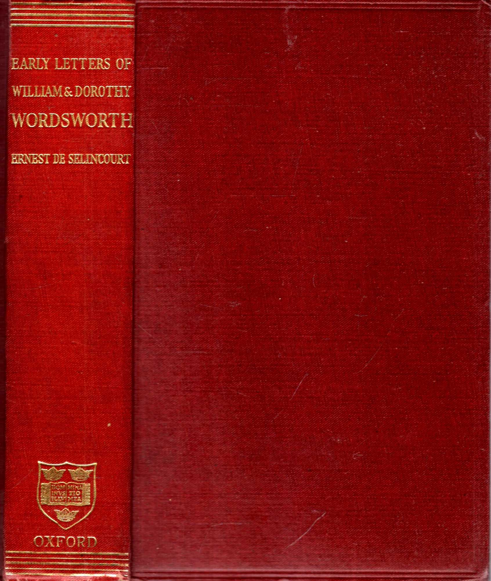 Image for The Early Letters of William and Dorothy Wordsworth : (1787-1805)
