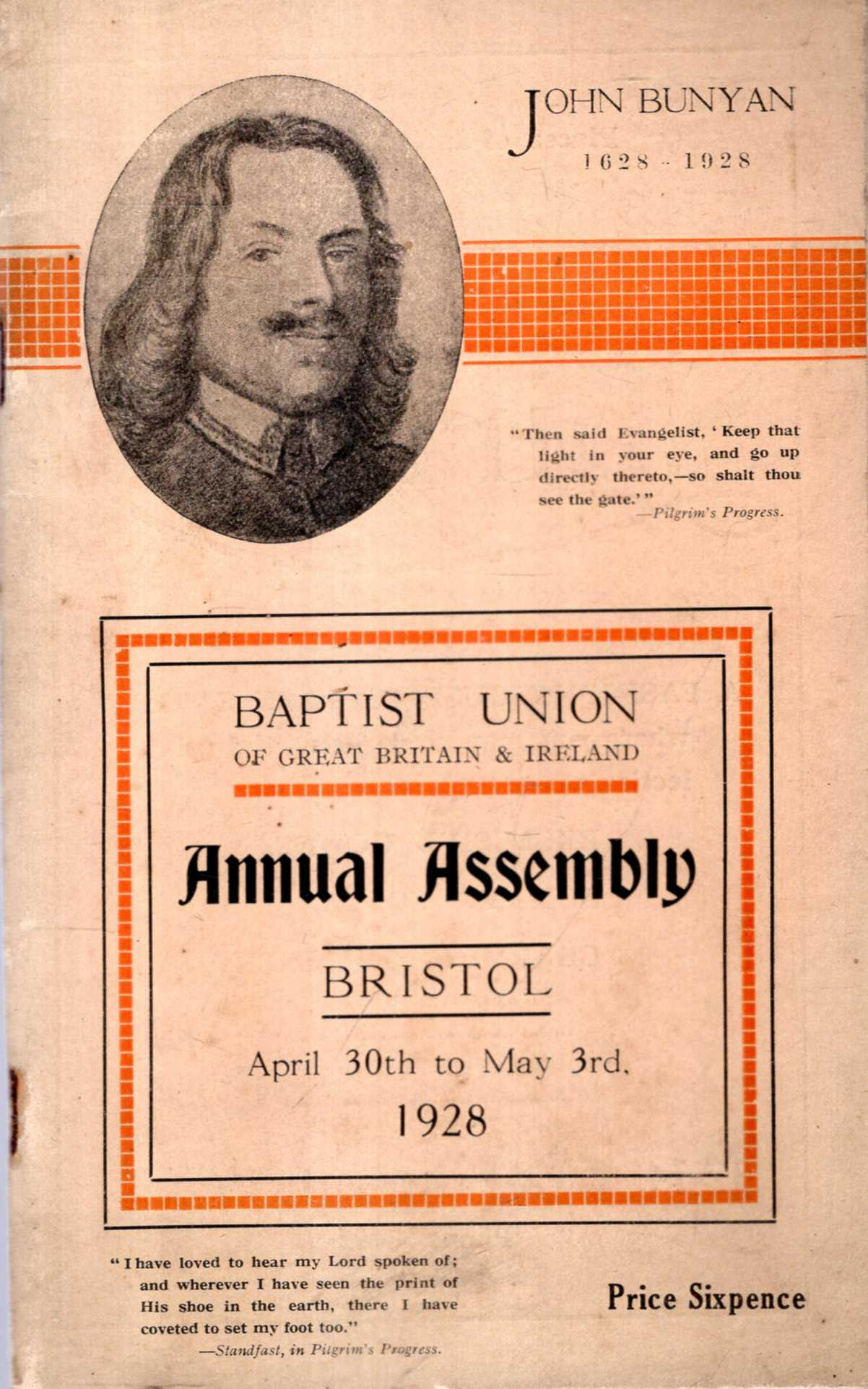Image for The Baptist Union of Great Britain & Ireland : Handbook of the Annual Assembly, Bristol, April 30th to May 3rd, 1928