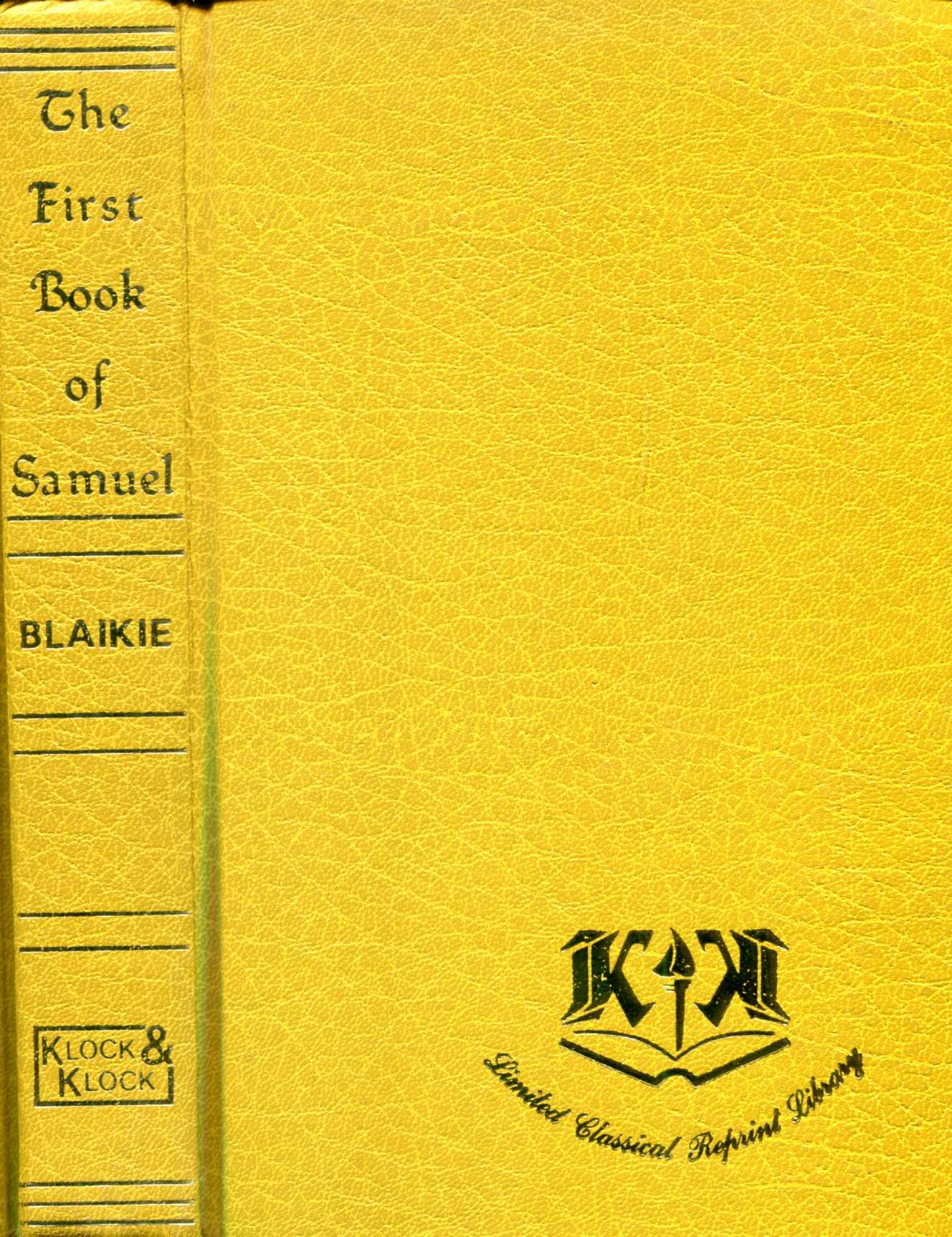 Image for The First Book of Samuel (Klock and Klock Limited Classical Reprint Library)