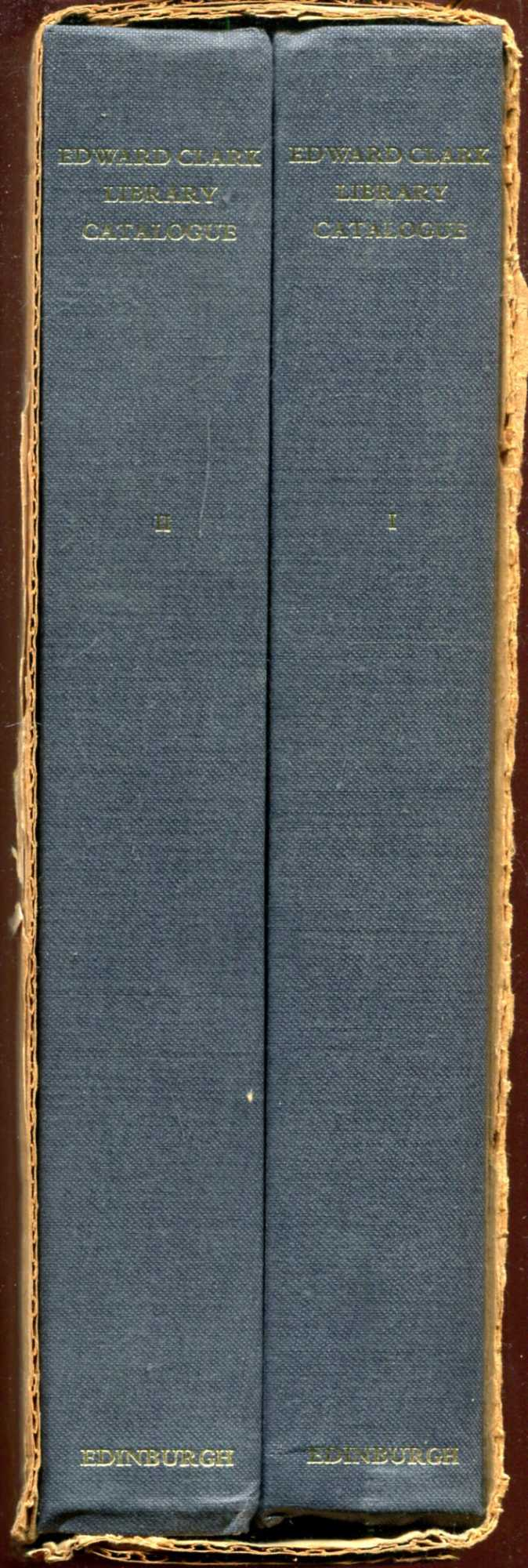 Image for Catalogue of the Edward Clark Library (two volumes complete)