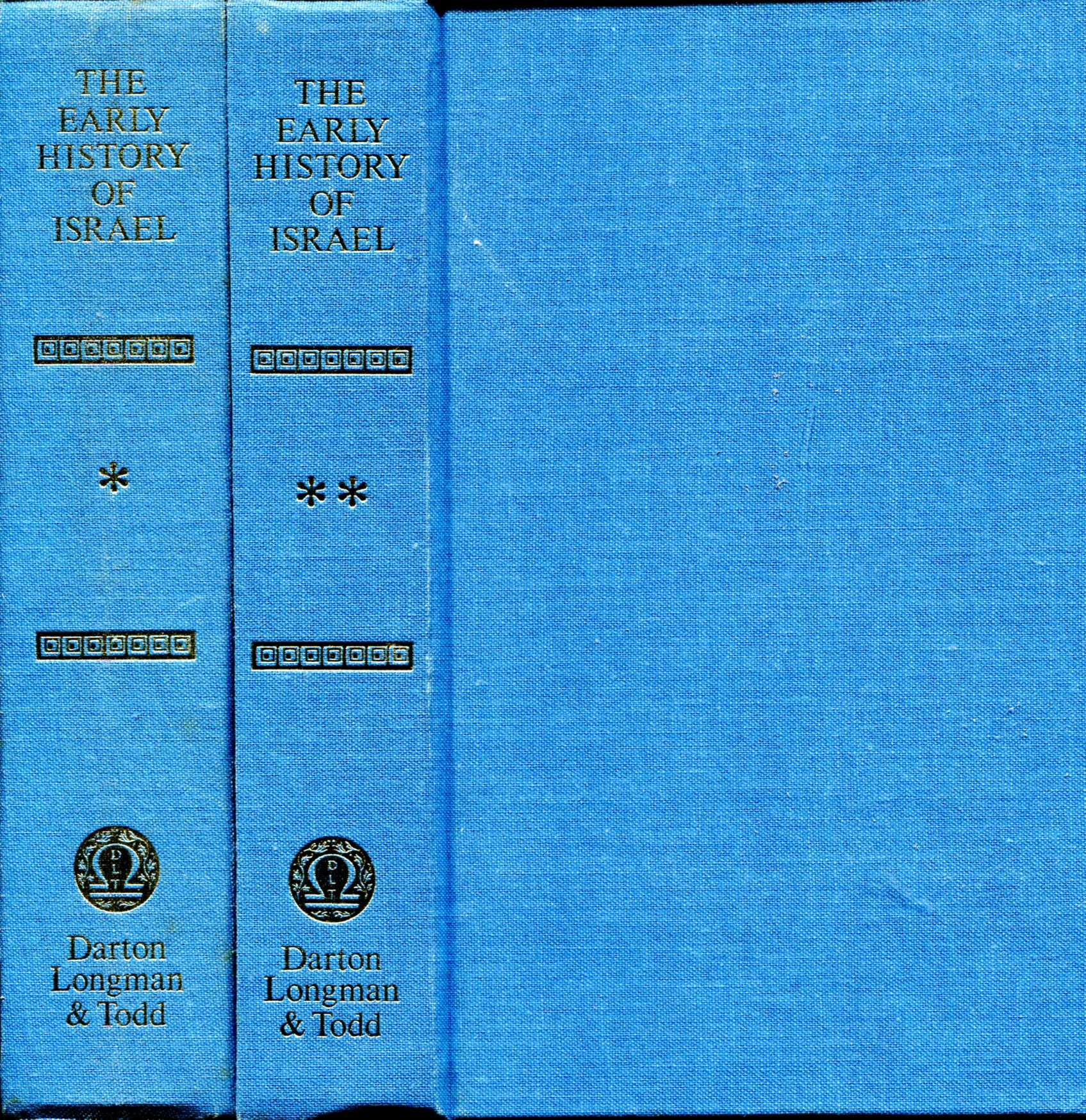 Image for The Early History of Israel (two volumes complete)
