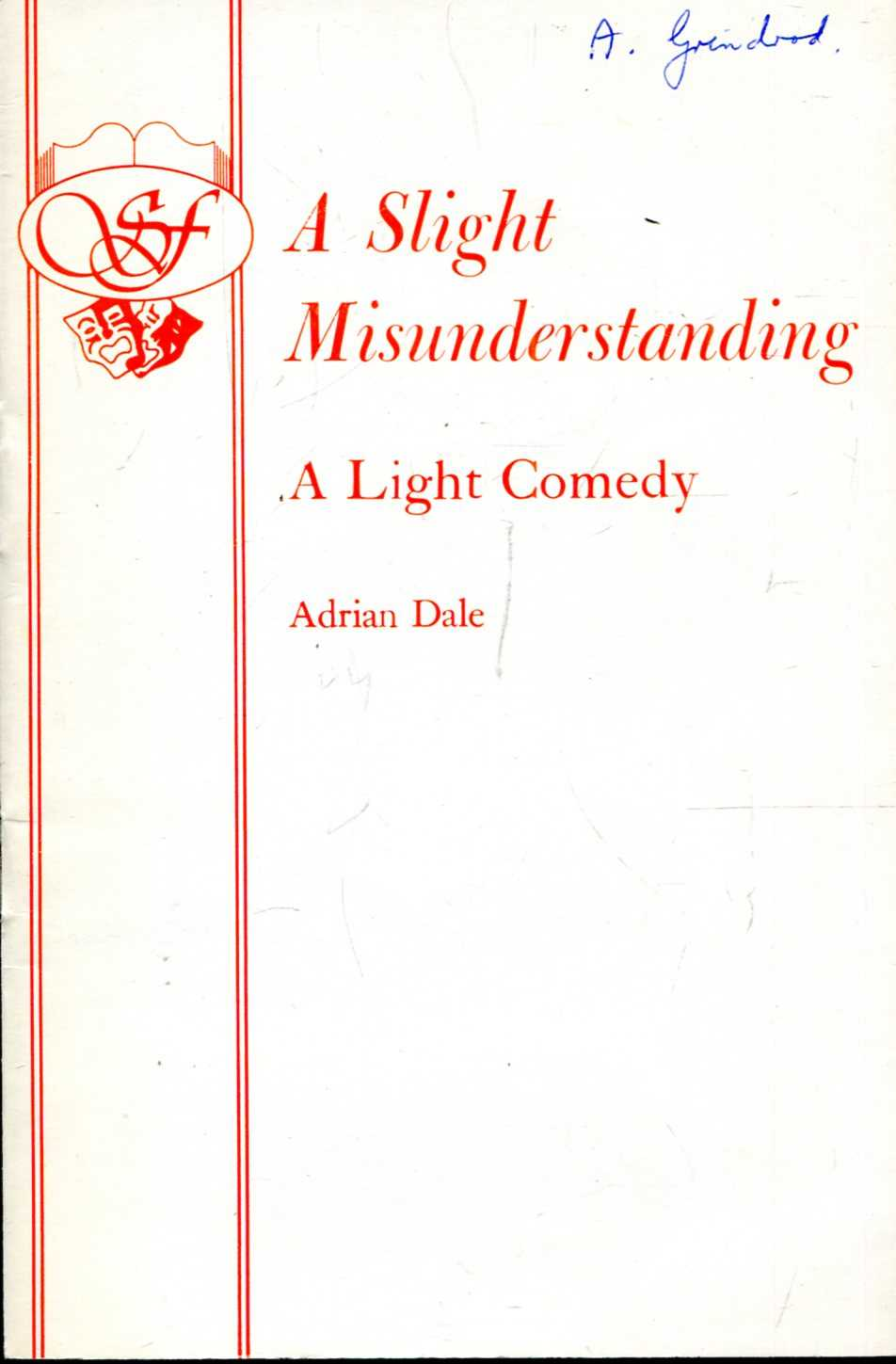 Image for A Slight Misunderstanding : A Light Comedy (Acting Edition)