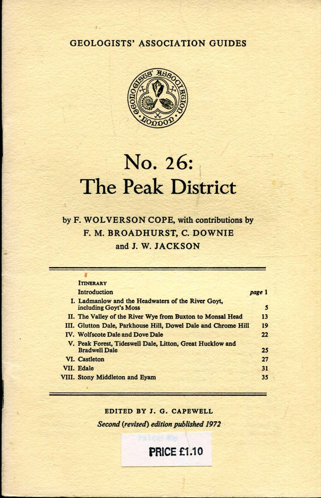 Image for Geologists' Association Guides No 26 : The Peak District