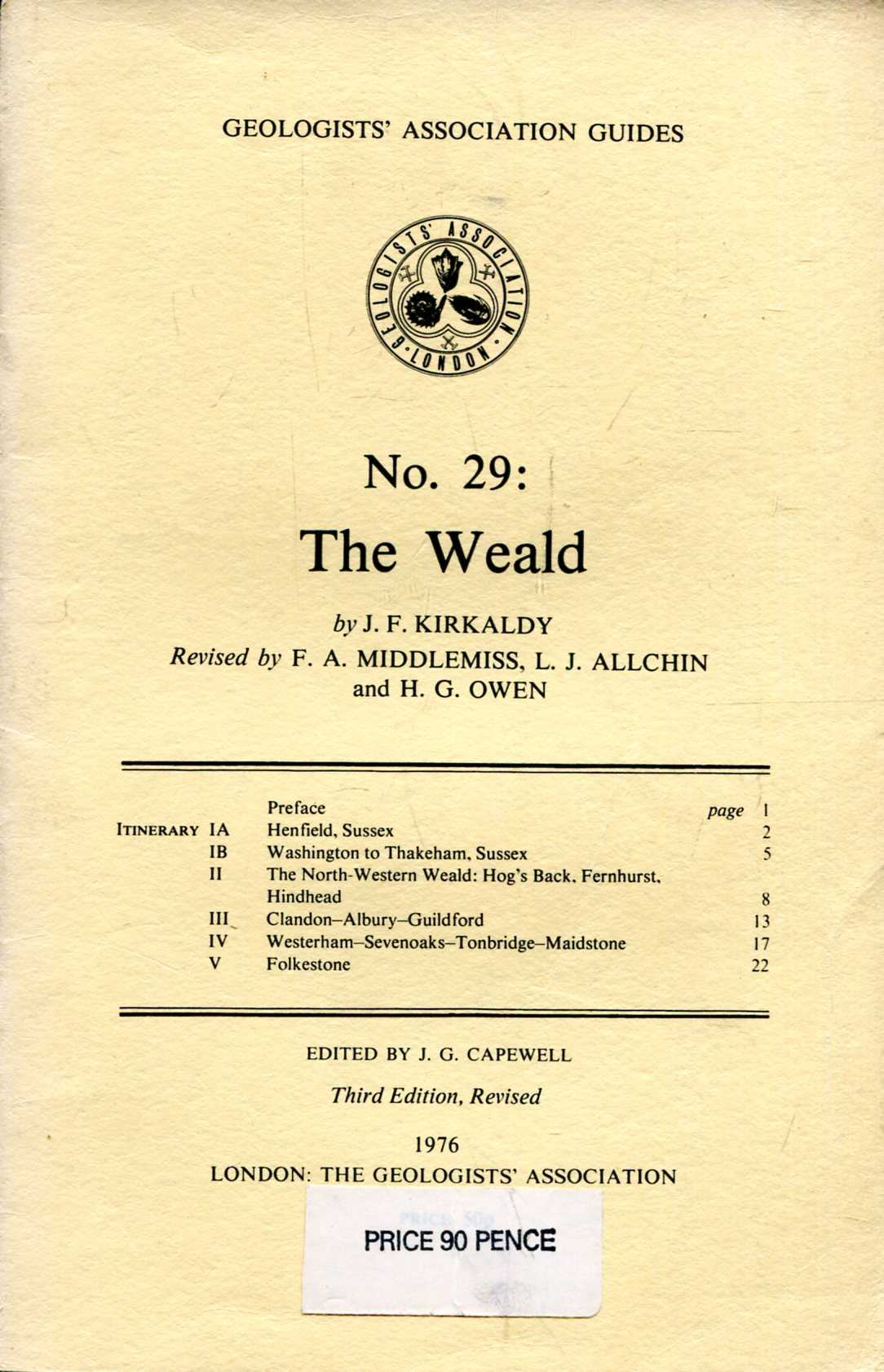 Image for Geologists' Association Guides No 29 : The Weald
