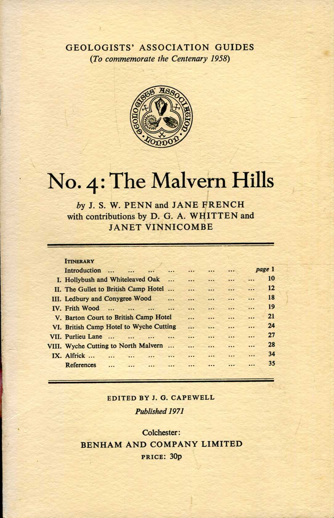 Image for Geologists' Association Guides No 4 : The Malvern Hills