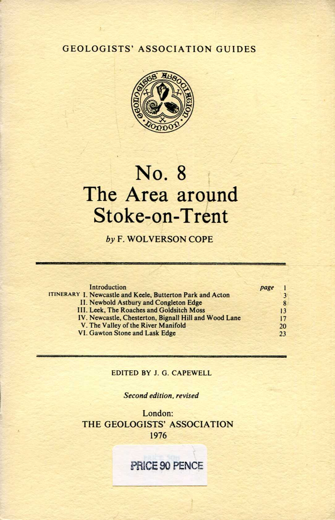Image for Geologists' Association Guides No 8 : The Area Around Stoke-on-Trent