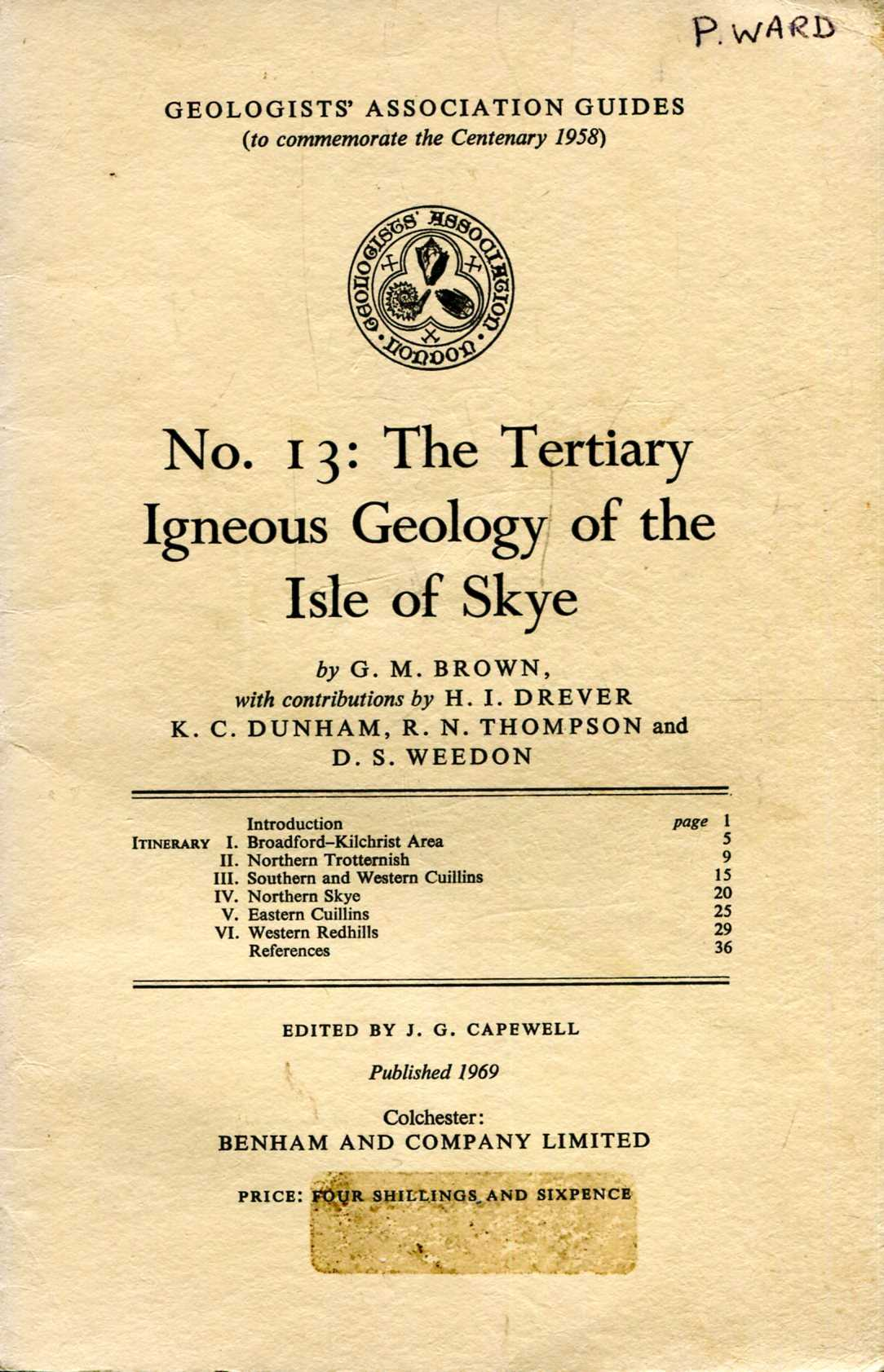 Image for Geologists' Association Guides No 13 : The Tertiary Igneous Geology of the Isle of Skye