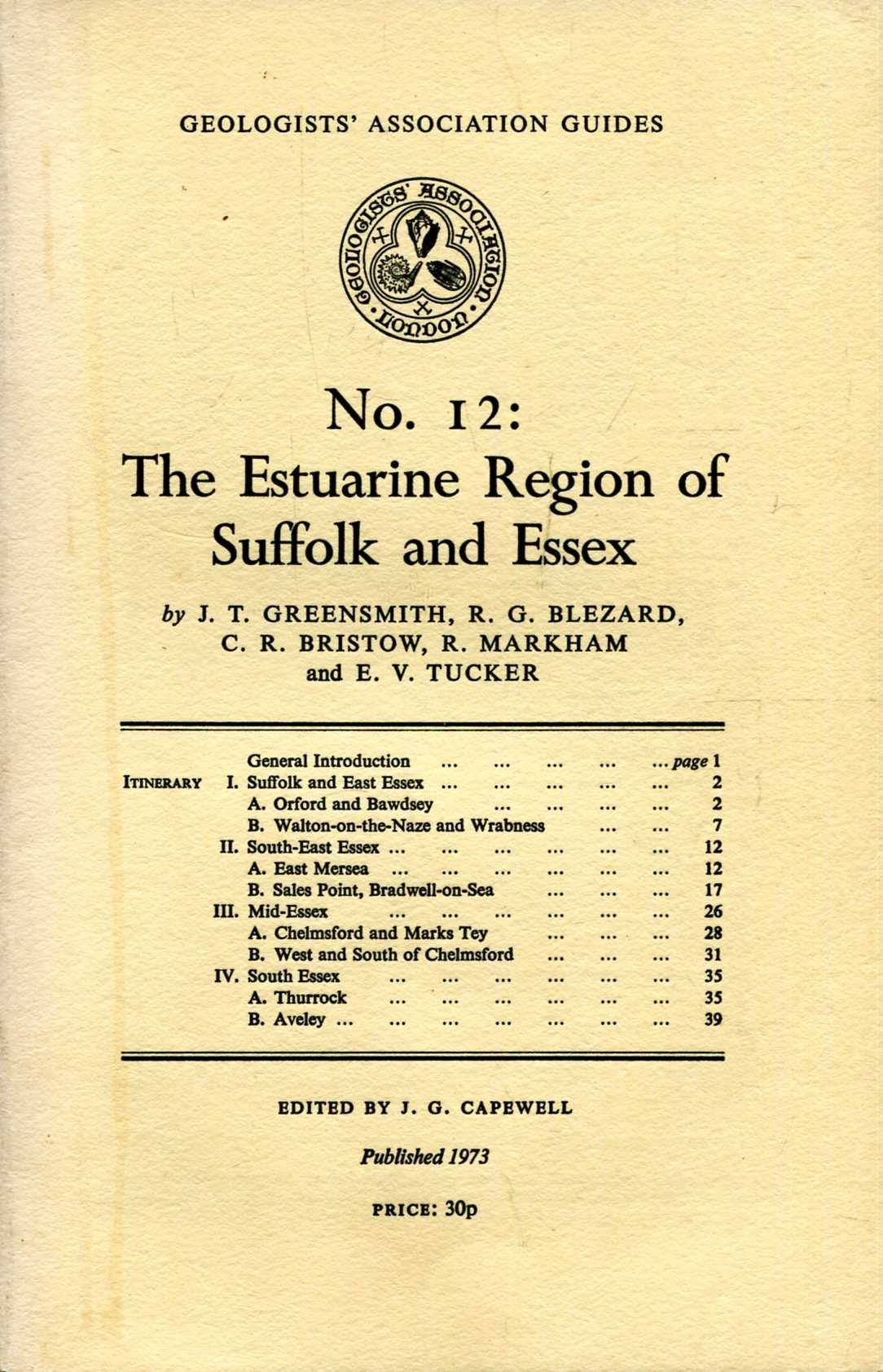 Image for Geologists' Association Guides No 12 : The Estarine Region of Suffolk and Essex