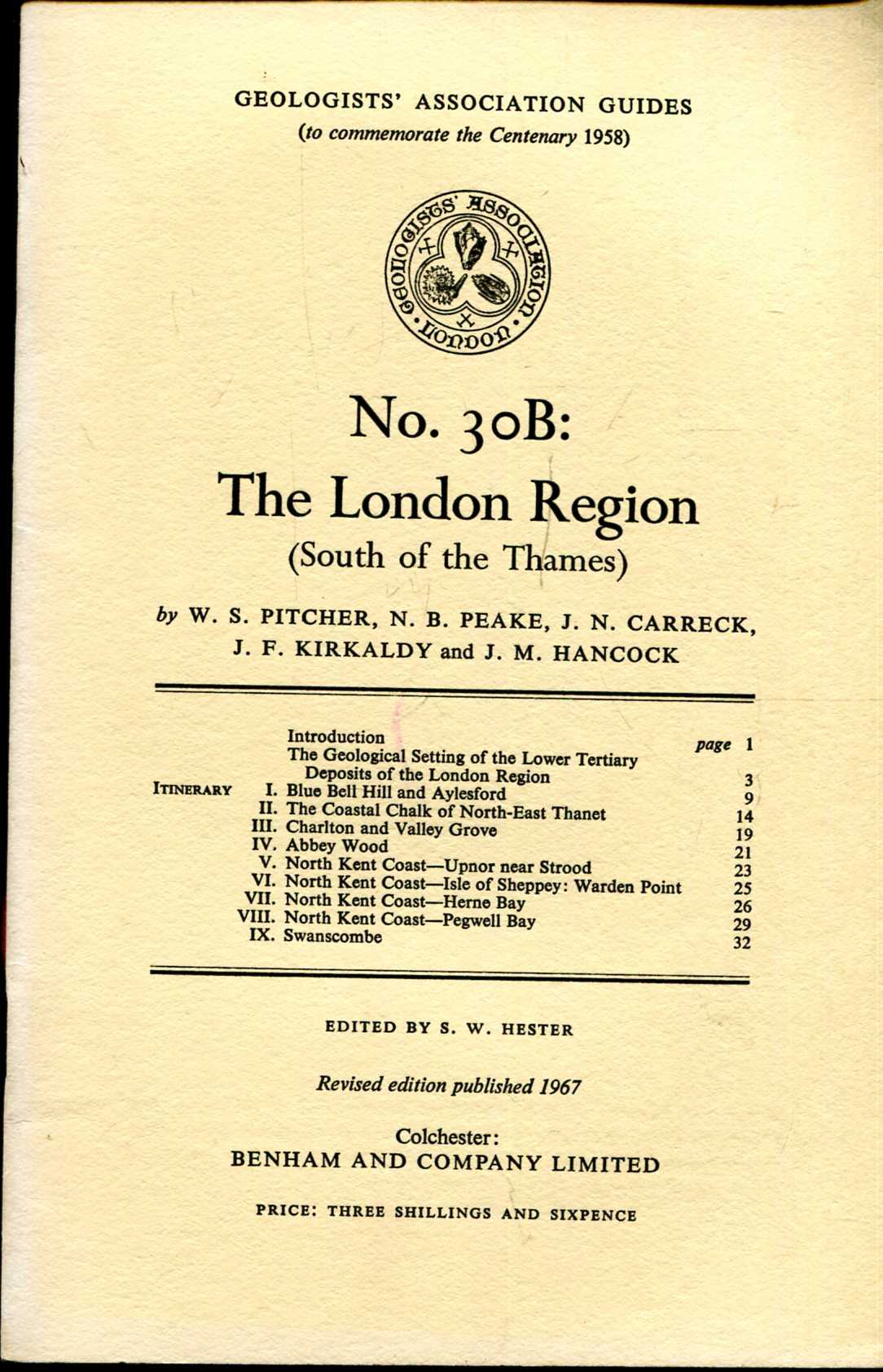 Image for Geologists' Association Guides No 30B : The London Region (South of the Thames)