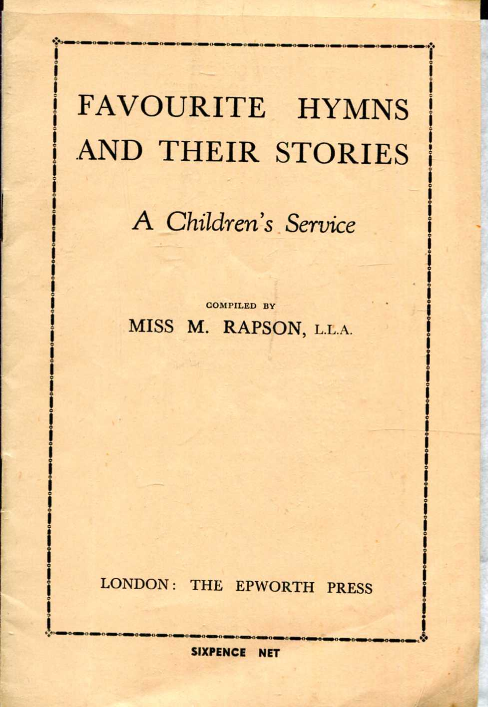 Image for Favourite Hymns and their Stories : A Children's Service