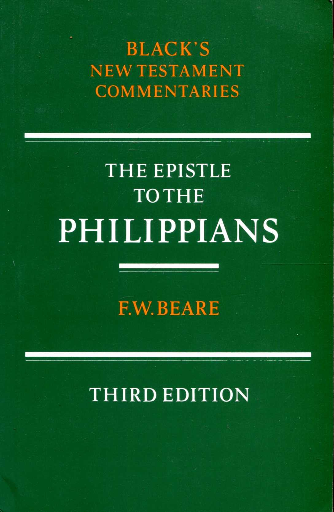 Image for New Testament Commentaries: the Epistle to the Philippians (Black's New Testament Commentaries)