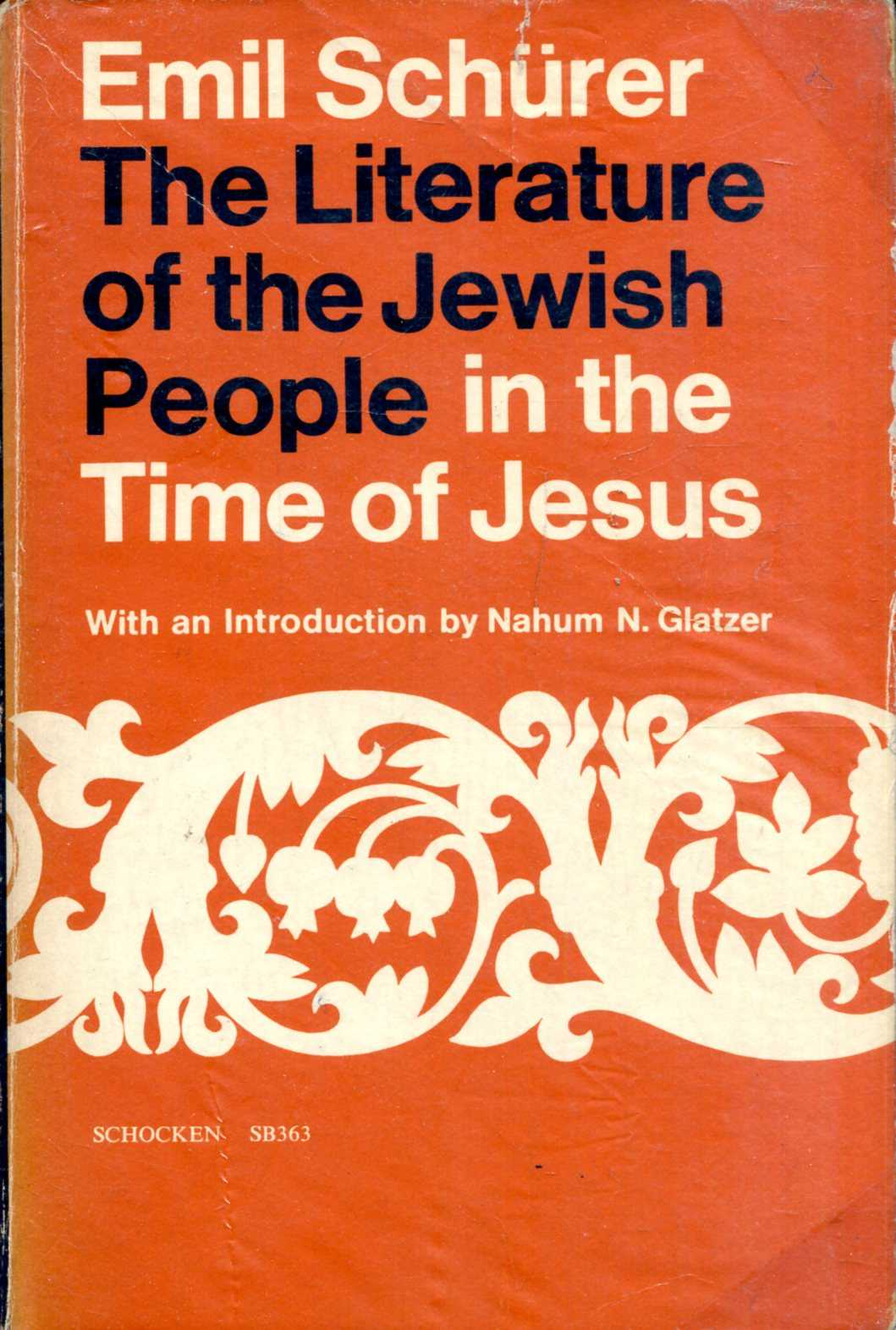 Image for The Literature of the Jewish people in the Time of Jesus
