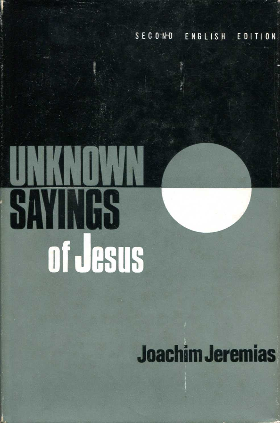 Image for Unknown Sayings of Jesus