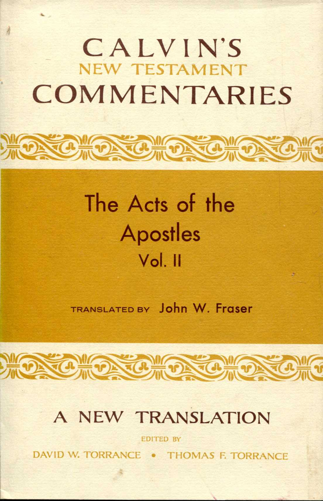 Image for The Acts of the Apostles volume II 14-28 (Calvin's New Testament Commentaries)