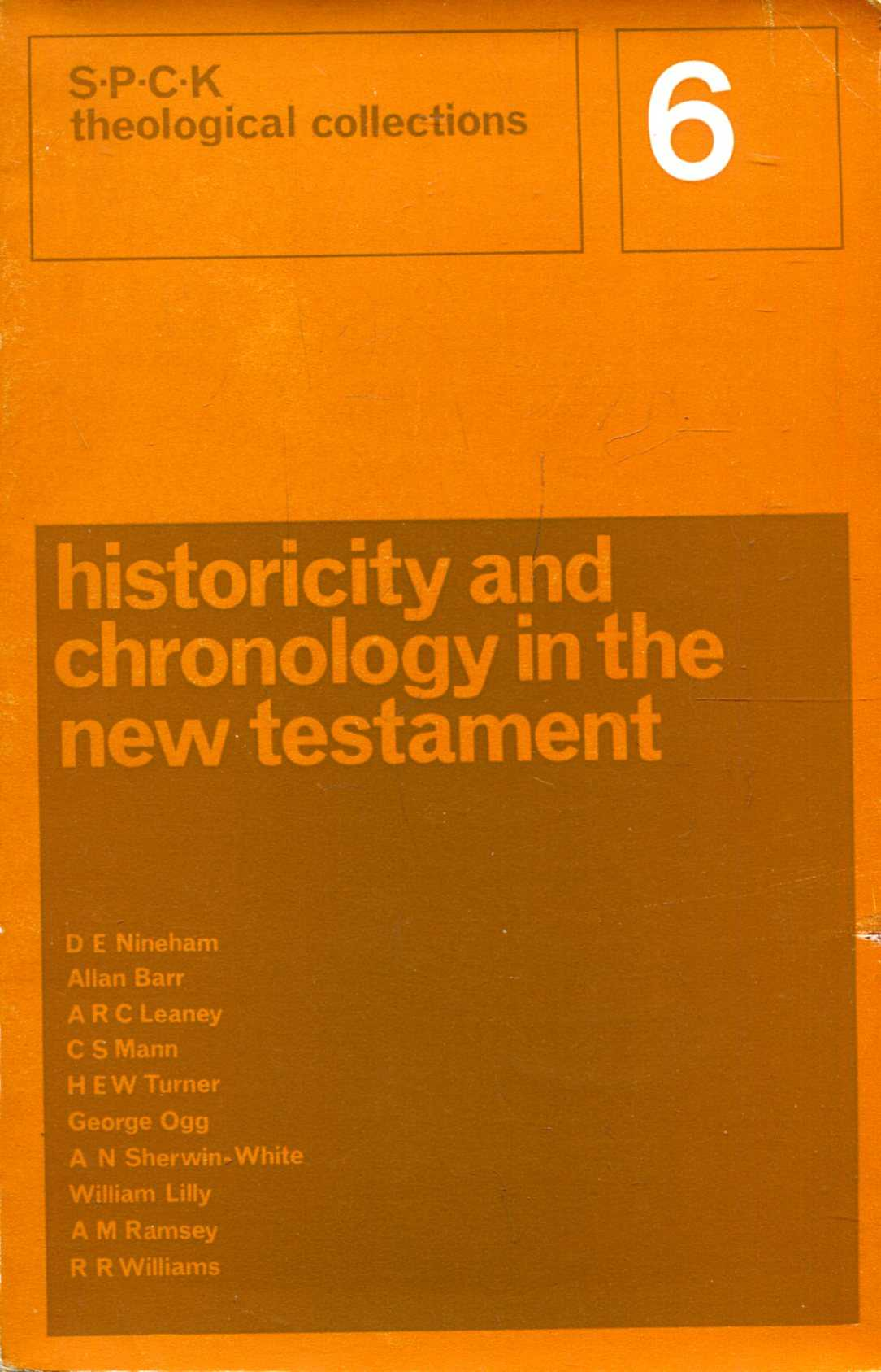 Image for Historicity and Chronology in the New Testament
