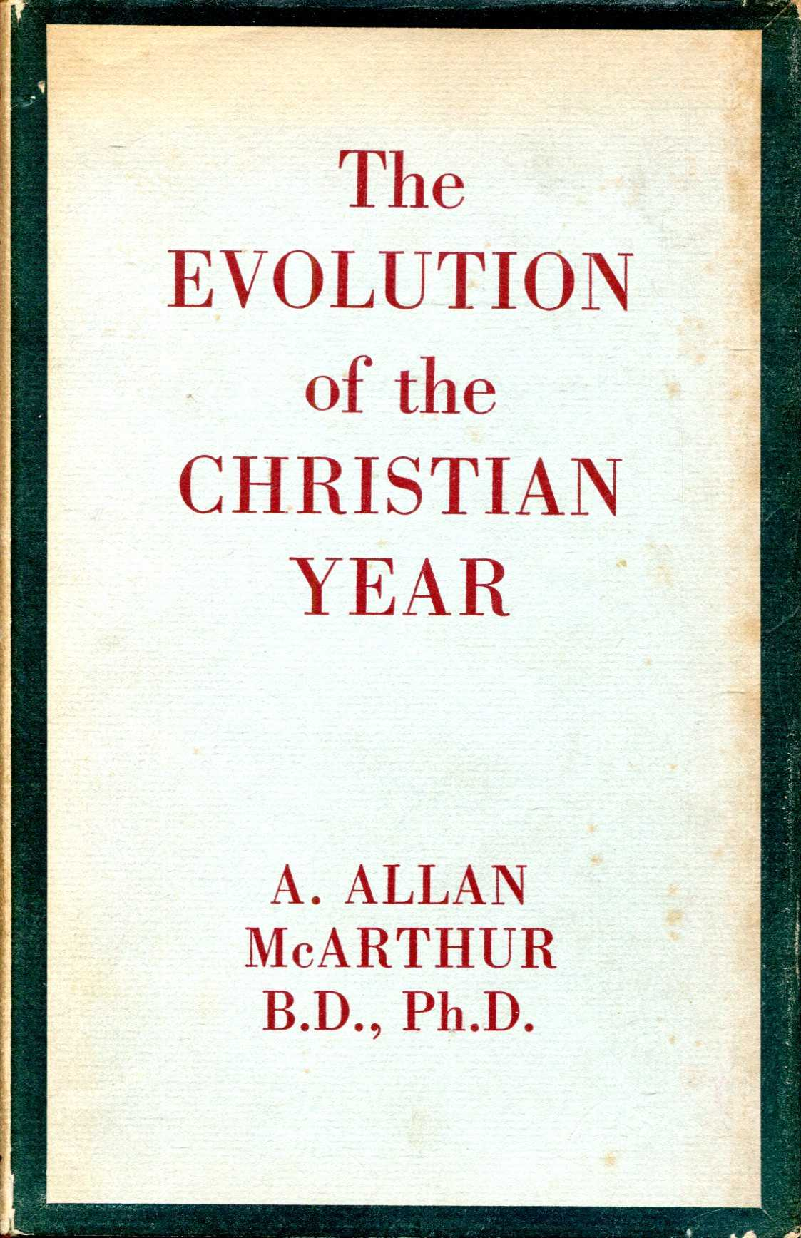 Image for The Evolution of the Christian Year