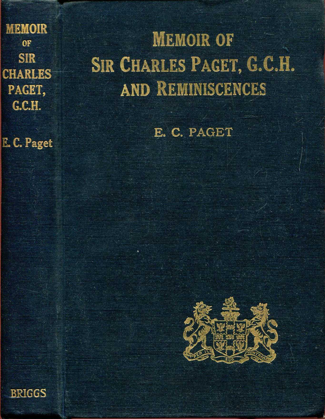 Image for A Memoir of The Honourable Sir Charles Paget and RFeminiscences of My Life and Family