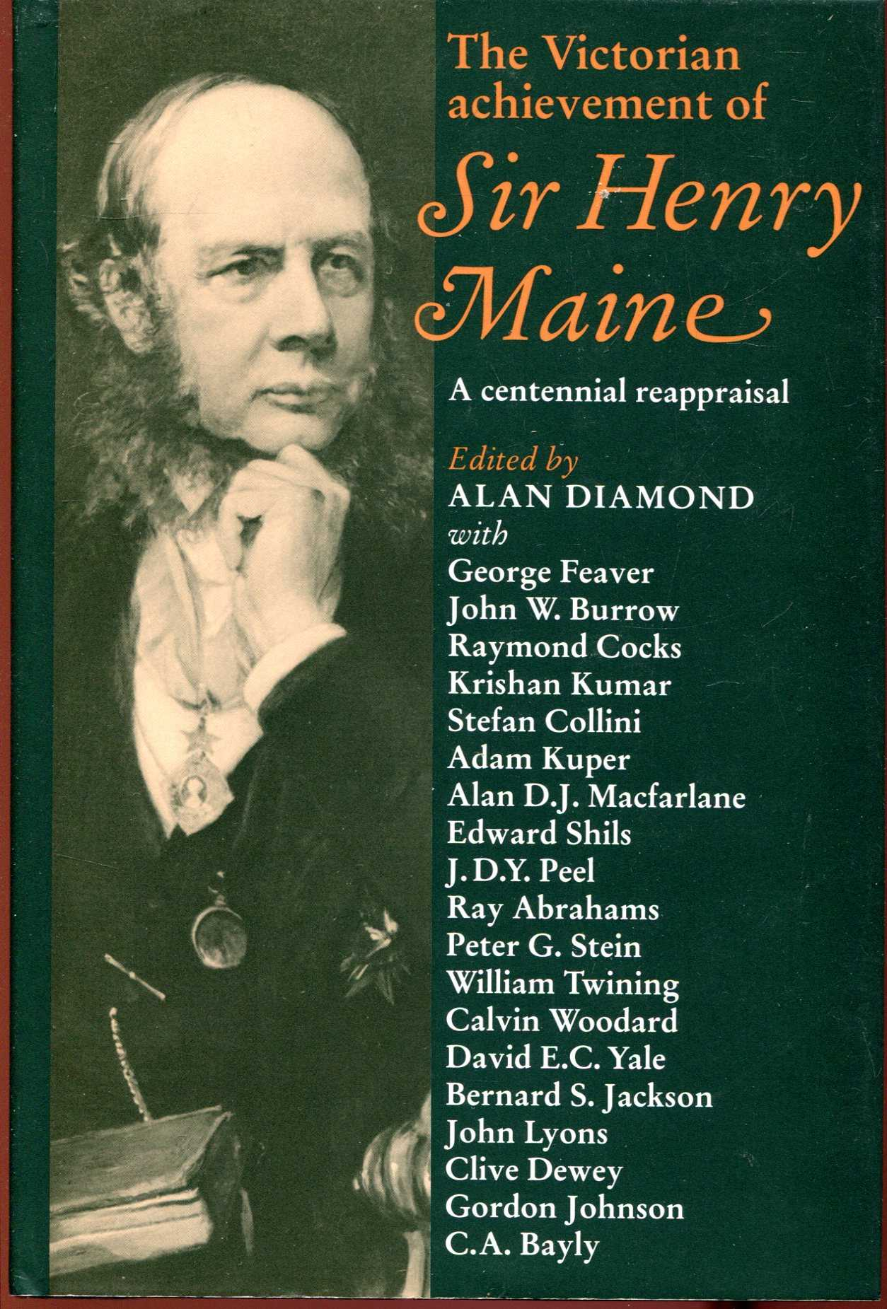 Image for The Victorian Achievement of Sir Henry Maine: A Centennial Reappraisal