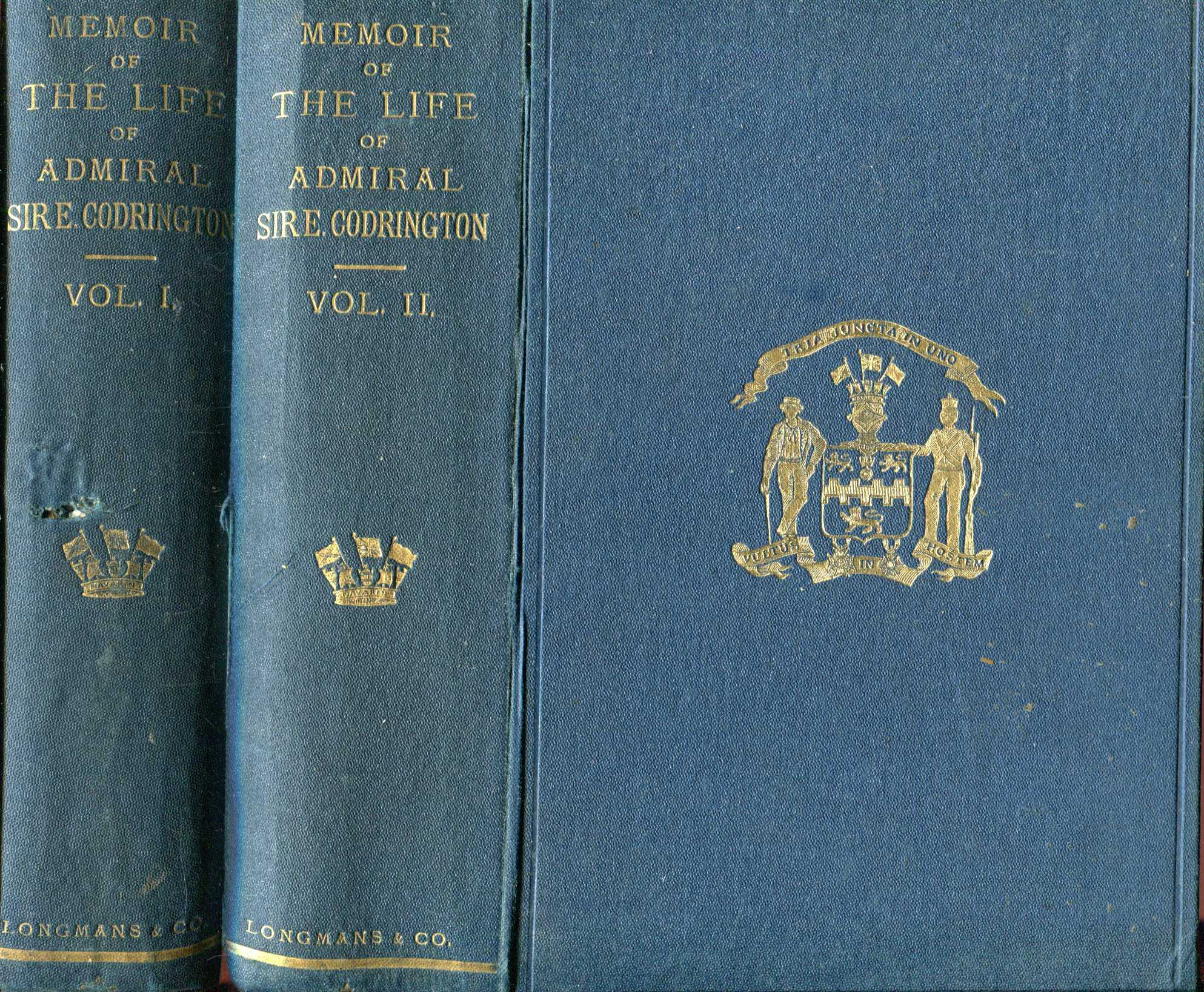 Image for Memoir of the Life of Admiral Sir Edward Codrington, with selections from his public and private correspondence (two volumes complete)