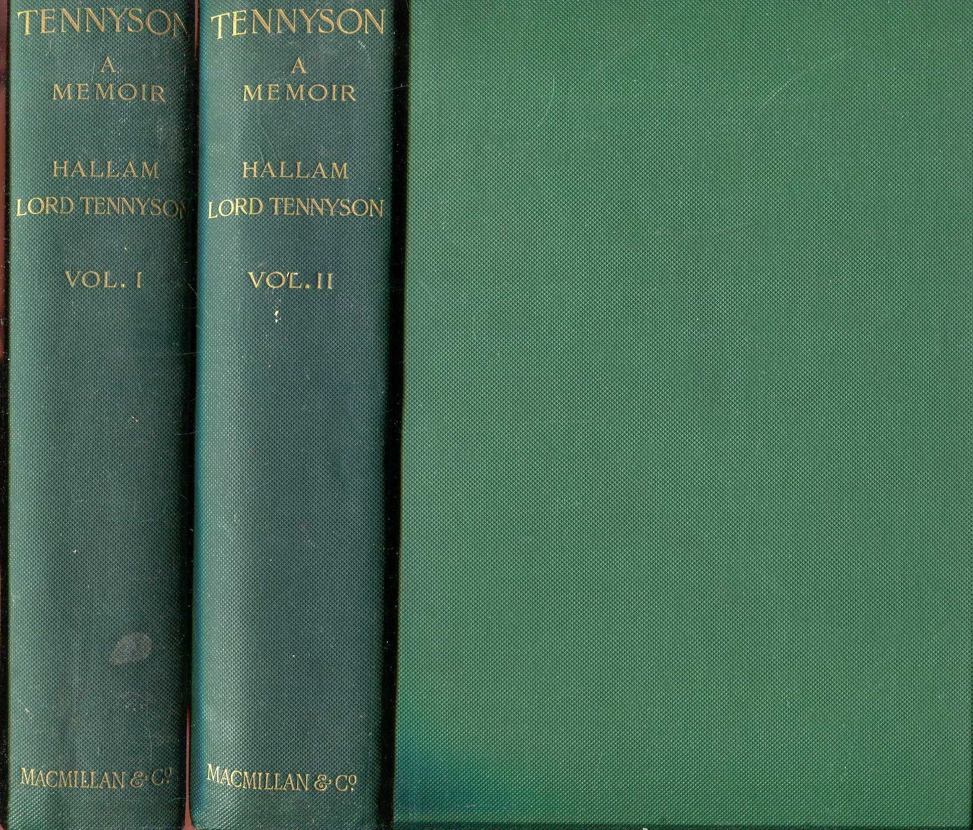 Image for Alfred Lord Tennyson, a memoir (two volumes complete)