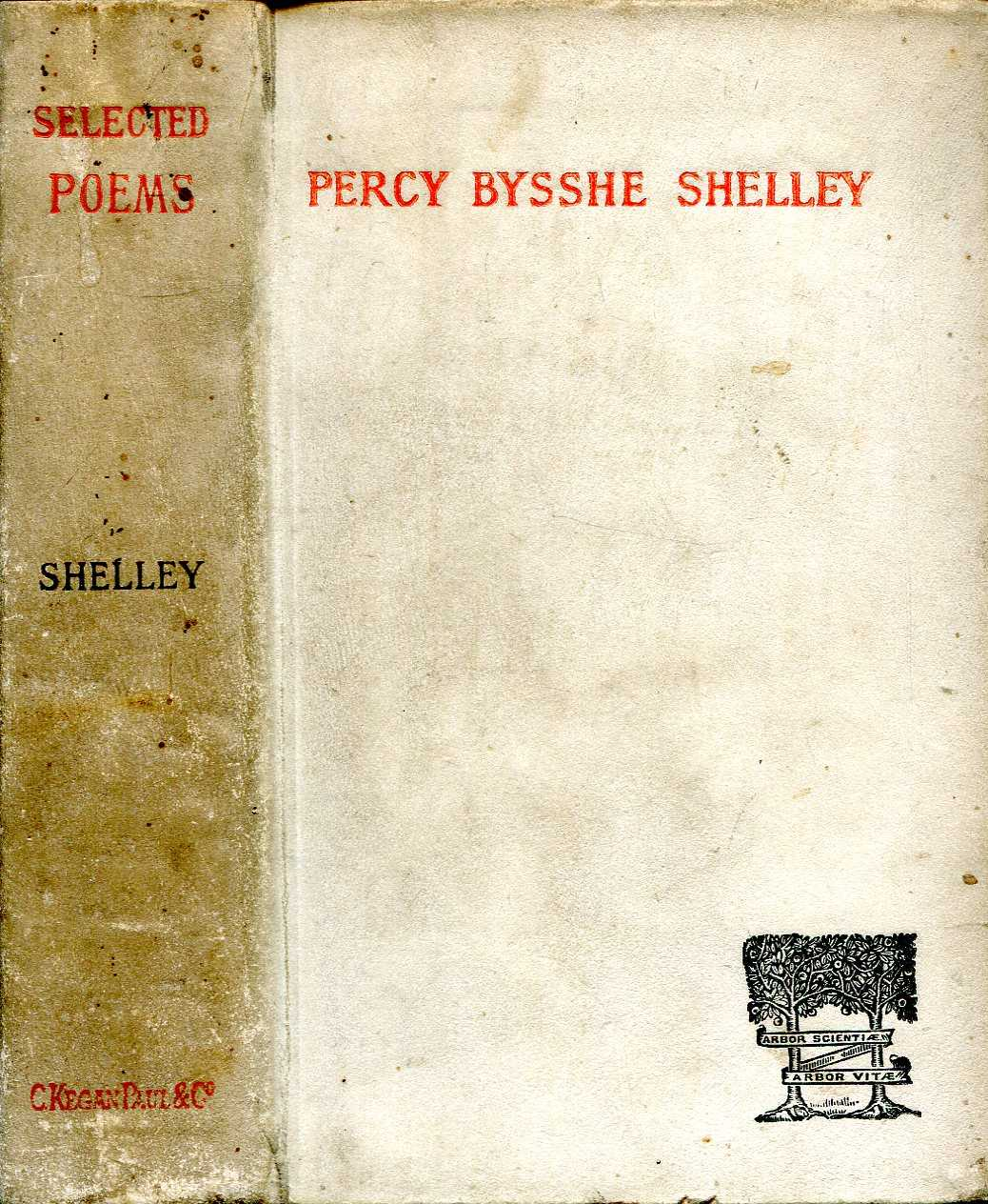 Image for Poems selected from Percy Bysshe Shelley