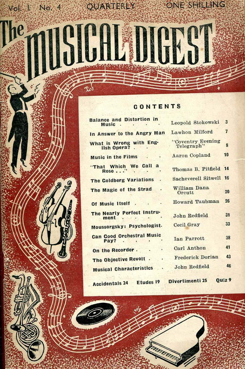 Image for The Musical Digest Quarterly : Volume 1 No 4, Autumn 1947
