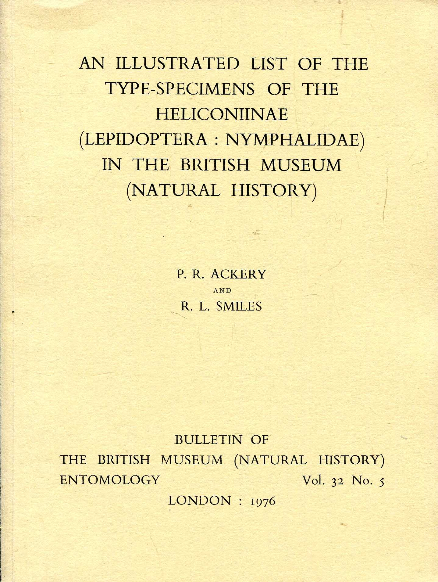 Image for Bulletin of the British Museum (Natural History) Entomology vol 32 No.5 : An Illustrated List of the Type-Specimens of the Heliconiinae (Lepidoptera : Nymphalidae) in the BM