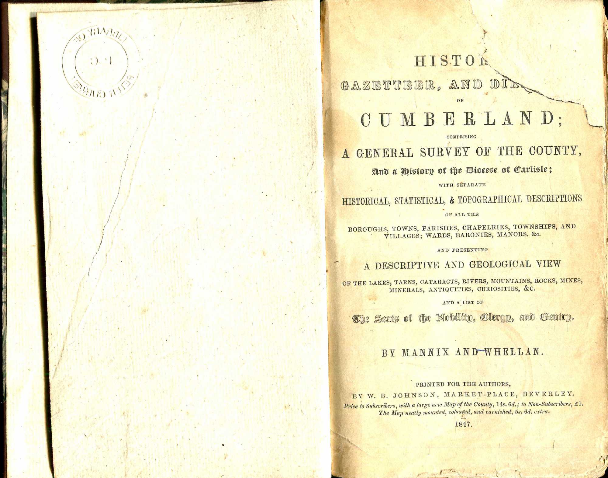 Image for History, Gazetteer, and Directory of Cumberland